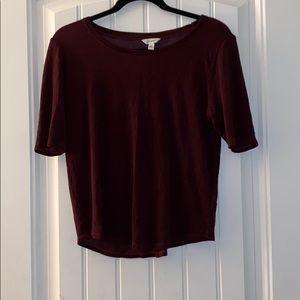 Burgundy Calvin Klein top size s/p